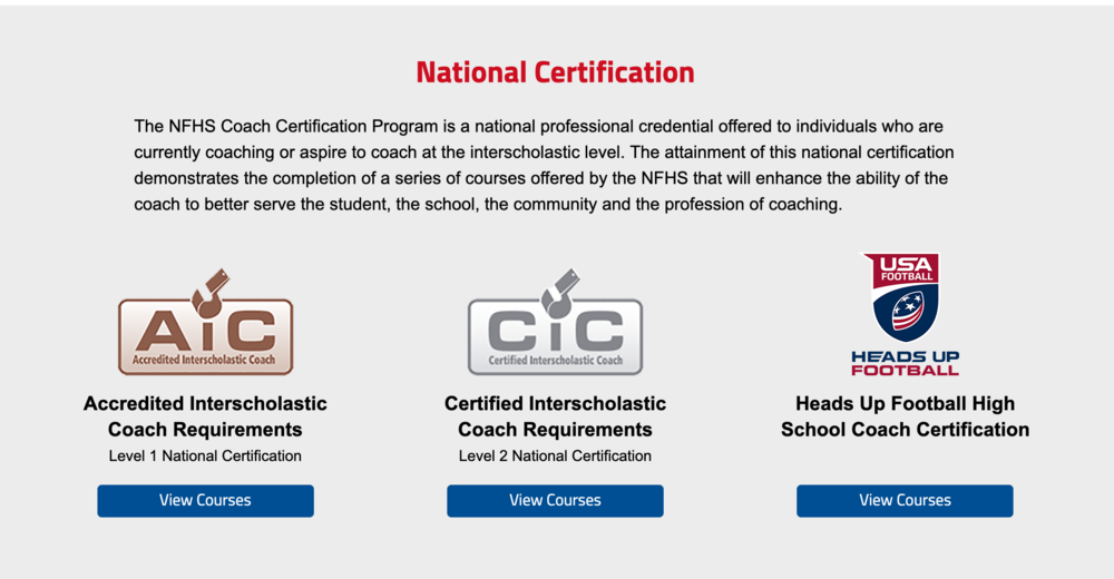 JSHS Trojans Athletics - NFHS Nationally Certified Coaches