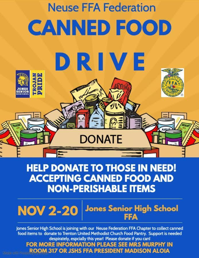 JSHS FFA Canned Food Drive