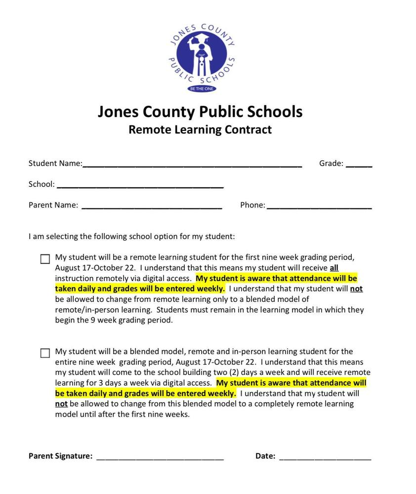 JSHS (7-12) Virtual Learning Selection Form